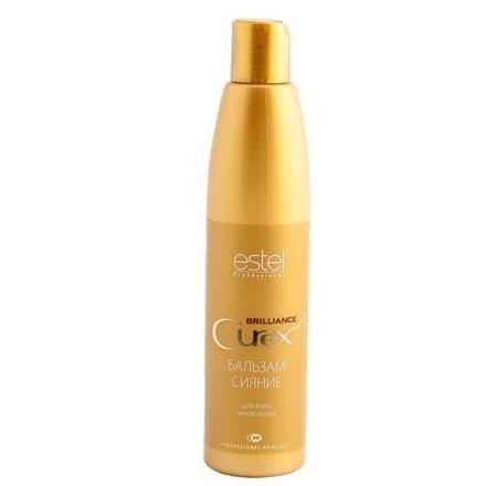 Estel, Бальзам-сияние CUREX BRILLIANCE для всех типов волос, 250 млВсе средства<br>Бальзам укрепляет структуру волос, облегчает расчесывание, придает блеск и ухоженный вид<br>