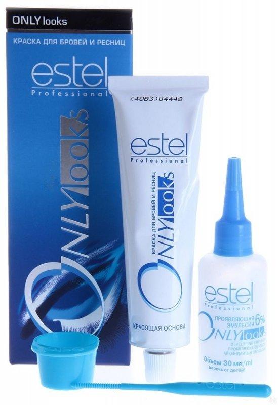 Estel, ONLY looks, краска для бровей, ресниц (иссиня-черная)Краска для бровей и ресниц<br>Стойкая краска для бровей и ресниц, тон графит. Подходит для чувствительной кожи. Не содержит парфюмированные масла и ароматизаторы<br>