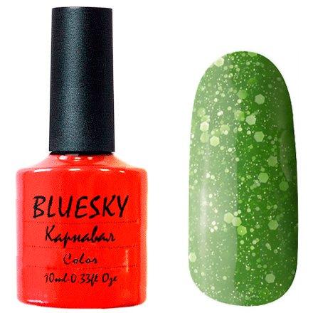 Bluesky Карнавал, 013Bluesky 10 мл<br>Гель-лак изумрудный оттенок, с крупными и мелкими блестками, плотный.<br>