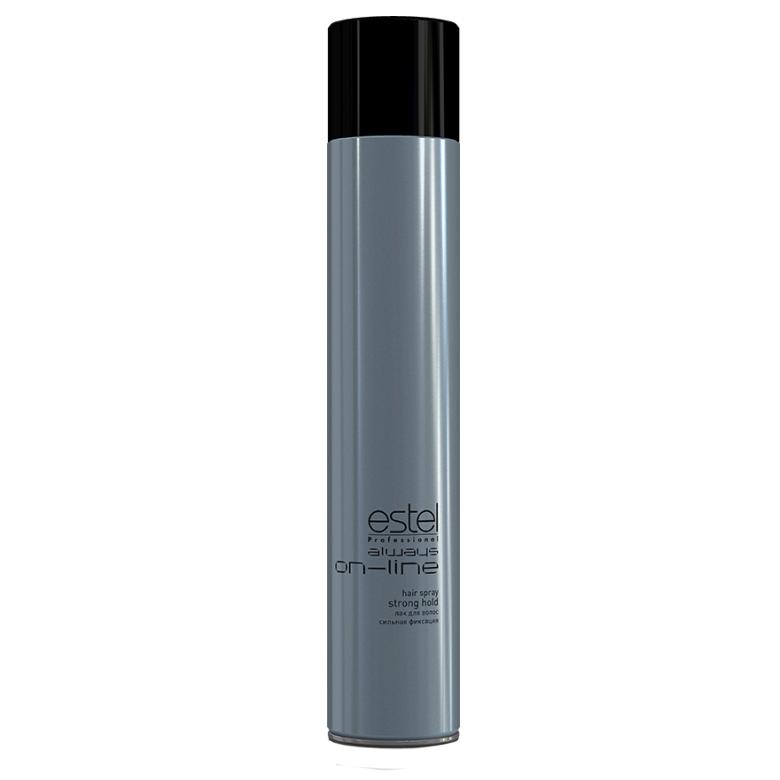 Estel, Лак Always ON-LINE для волос, сильная фиксация, 400 млВсе средства<br>Сильная фиксация, больше блеска, не склеивает волосы, легко счесывается,не образует налета<br>