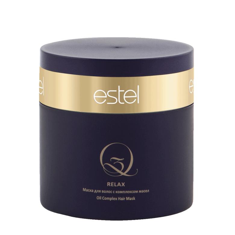 Estel, Маска Q3 RELAX, для волос с комплексом масел, 300 млВсе средства<br>Укрепляет и насыщает структуру волос ценными маслами арганы и макадамии<br>