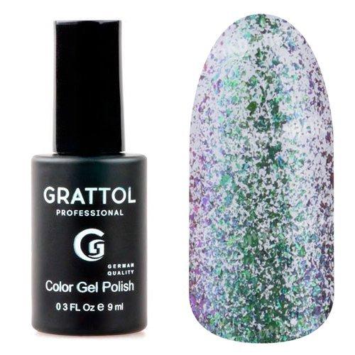 Grattol, Гель-лак - Galaxy Emerald №001 (9 мл.)Grattol<br>Изумрудный гель лак, с эффектом хамелеон, плотный, со слюдой<br>