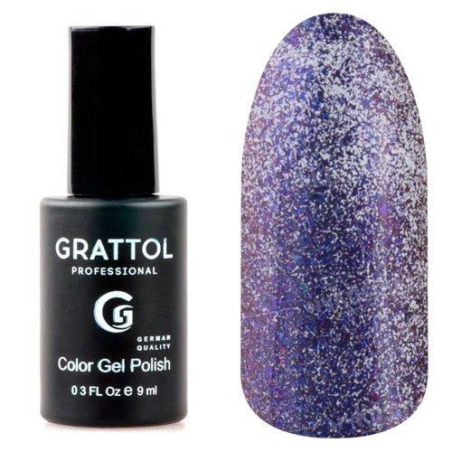 Grattol, Гель-лак Galaxy Ocean №005Grattol<br>Синий гель лак, с эффектом хамелеон, плотный, со слюдой<br>