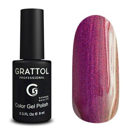 Grattol, Гель-лак Galaxy Tourmaline №008Grattol<br>Кварцевый гель лак, с эффектом хамелеон, плотный, голографик<br>