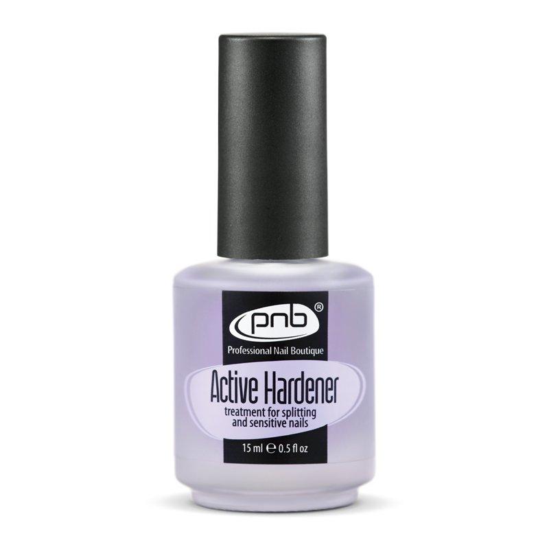 PNB, Active Hardener - Средство для укрепления ломких и слоящихся ногтей (15 мл).Лечебные и укрепляющие средства PNB<br>Замедляет процесс разрушения кератина, способствует обновлению клеток ногтевой пластины.<br>