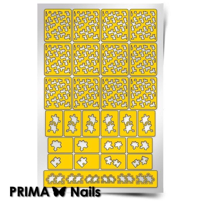 PrimaNails, Трафарет для дизайна ногтей - ПазлPrimaNails<br>Самоклеющиеся трафареты<br>