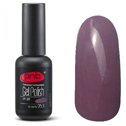 PNB, Гель-лак цвет №053 Serenity (8 мл.)PNB<br>Гель-лаклиловый, без блесток и перламутра, плотный<br>
