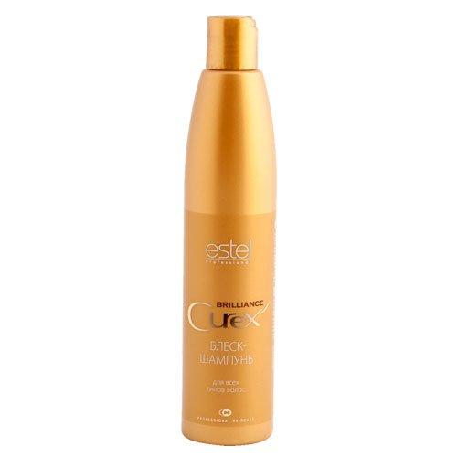 Estel, Шампунь-блеск CUREX BRILLIANCE для всех типов волос, 300 млВсе средства<br>Шампунь бережно очищает волосы, делает их эластичными и шелковистыми.<br>