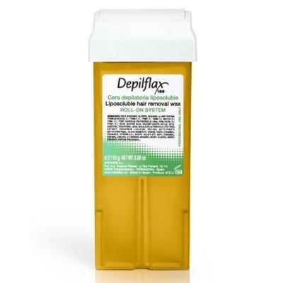 Depilflax, Воск для депиляции в картридже - НАТУРАЛЬНЫЙ (110гр.)Воск в картриджах<br>Универсальный прозрачный воск, подходящий для всех типов кожи. Рекомендован для тонких, пушковых волос<br>