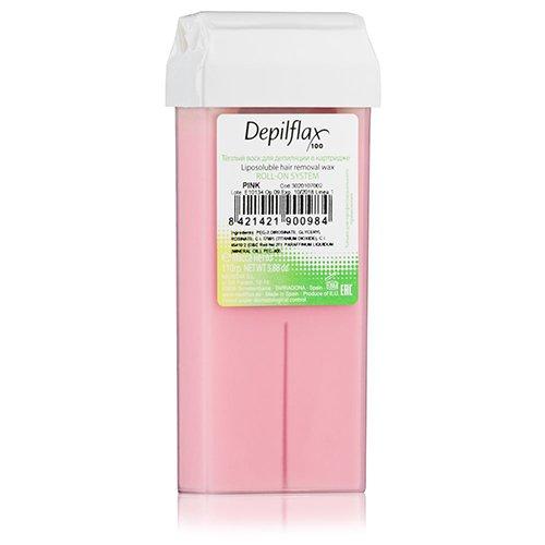 Depilflax, Воск для депиляции в картридже - КРЕМОВАЯ РОЗА (110гр.)Воск в картриджах<br>Плотный воск, идеально подходит для чувствительной кожи. Гипоаллергенен. Не вызывает раздражения<br>