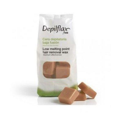 Depilflax, Горячий воск для депиляции в брикетах - Капучино (1 кг)