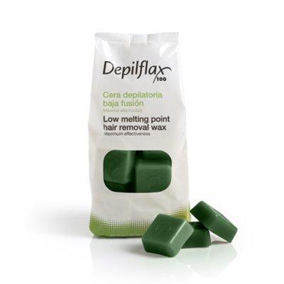 Depilflax, Горячий воск для депиляции в брикетах - Зеленый (1 кг)