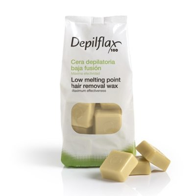 Depilflax, Горячий воск для депиляции в брикетах - Слоновая кость (1 кг)