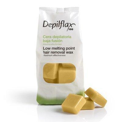 Depilflax, Горячий воск для депиляции в брикетах - Золото (1 кг)