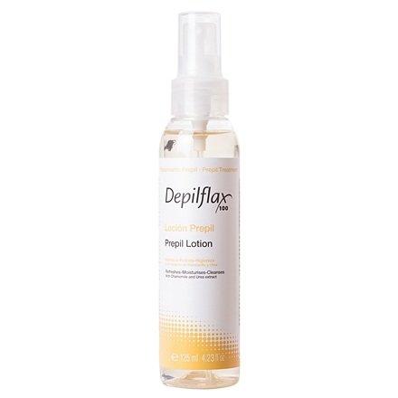 Depilflax, Лосьон перед депиляцией - PREDEPIL LOTION (125 мл)Сопутствующие материалы<br>Лосьон очищает, тонизирует и обезжиривает кожу, подготавливая ее для работы с воском<br>