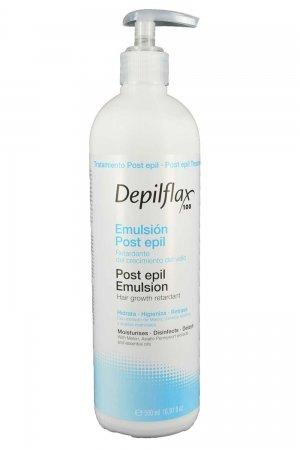 Depilflax, Эмульсия после депиляции, с приостановлением роста волос (500 мл)Сопутствующие материалы<br>Эмульсии позволяет приостановить рост волос, идеально подходит для сухой кожи. Обладает нежным ароматом<br>