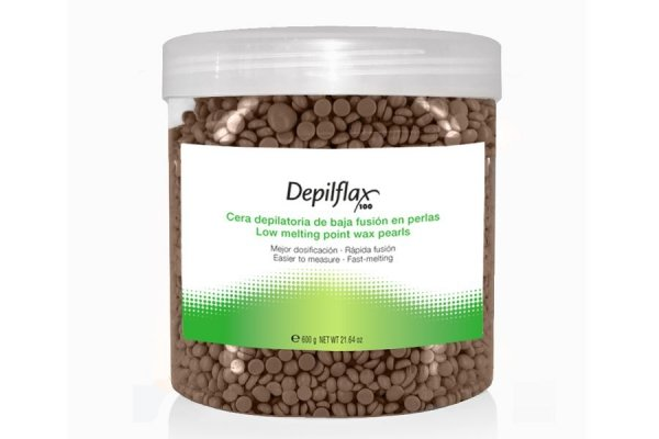 Depilflax, Горячий воск для депиляции в гранулах - Шоколадный (600 гр)