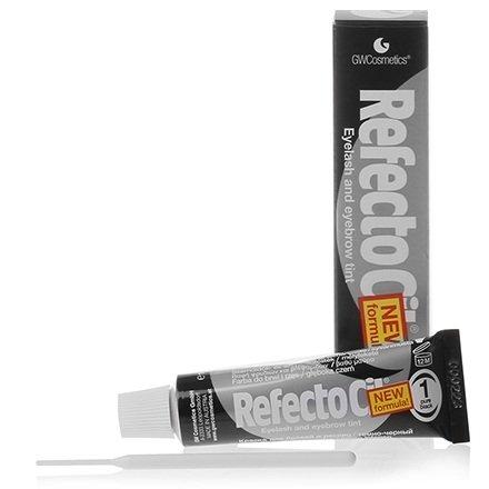 Refectocil, Краска для бровей, ресниц №1 (черная)Краска для бровей и ресниц<br>Краска окрашивает каждый волосок в насыщенный черный цвет<br>