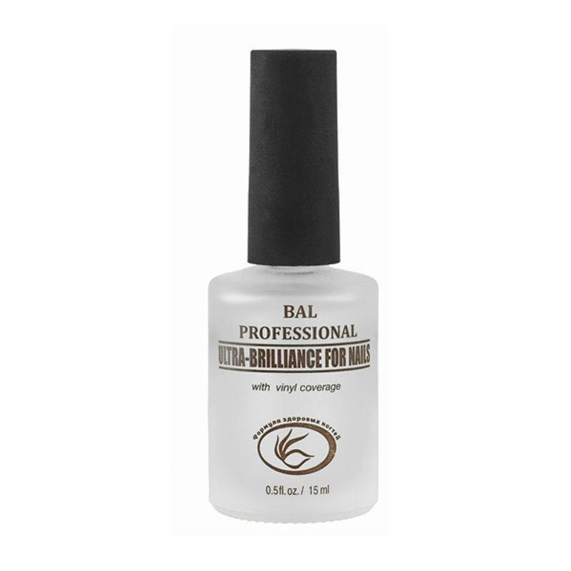 BAL, Ультра блеск с виниловым покрытием (15 мл).Лечебные и укрепляющие средства BAL<br>Закрепляет цветной лак и придает ультра-блеск маникюру.<br>