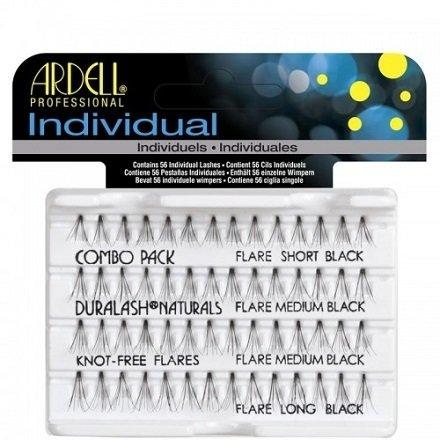 Ardell, Пучки ресниц безузелковые комбинированные чёрныеНаращивание для ресниц<br>Высококачественные и гипоаллергенные пучки ресниц разной длины<br>