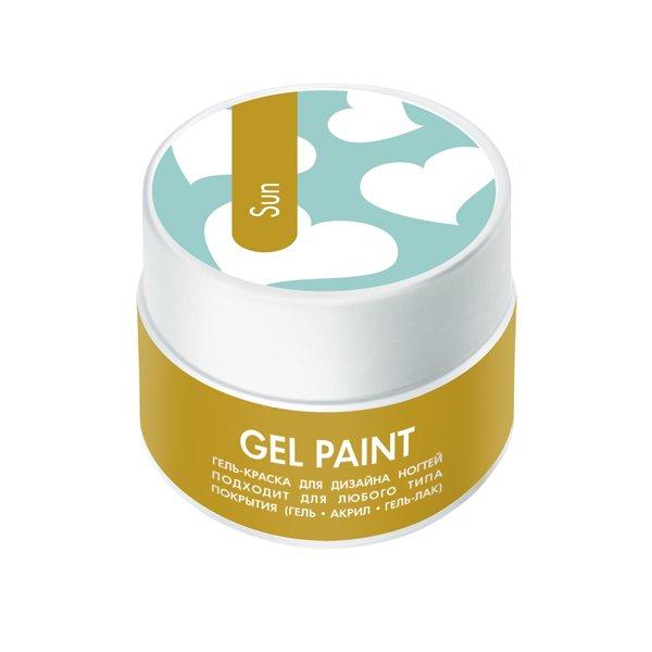 ruNail, Гель-краска (с блестками, Солнце, Sun), 7,5 г, банкаГель краски RuNail<br>Гель-краска для художественной росписи и плоскостного дизайна ногтей, а также создания оригинального френча.<br>