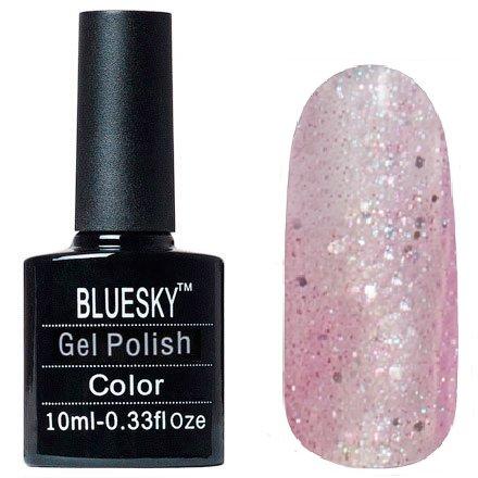 Bluesky Шеллак, цвет №139Bluesky 10 мл<br>Гель-лак полупрозрачный с розоватым оттенком с мелкими и крупными блестками.<br>