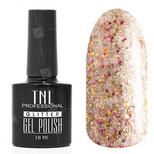 TNL, Гель-лак Glitter №27 - Конфетти (10 мл.)TNL Professional <br>Гель-лак, конфети,с содержанием светоотражающих, мерцающих частиц, полупрозрачный<br>