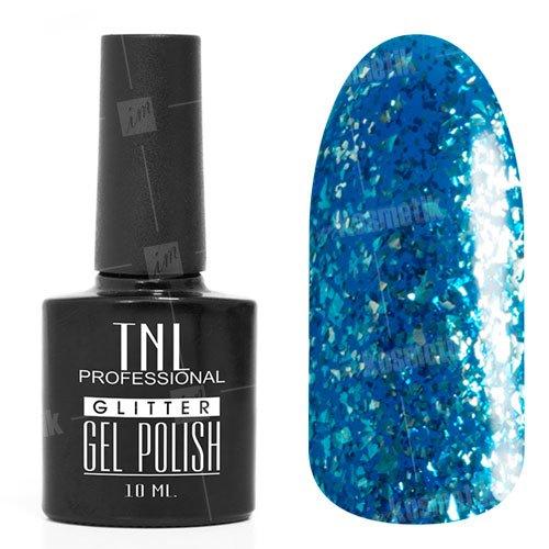 TNL, Гель-лак - Glitter №30TNL Professional <br>Гель-лак, кобальтовый,с содержанием светоотражающих, мерцающих частиц, полупрозрачный<br>