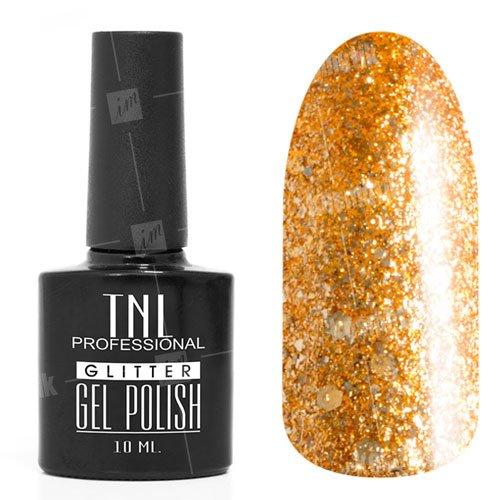 TNL, Гель-лак - Glitter №38TNL Professional <br>Гель-лак, нарциссово-желтый,с содержанием светоотражающих, мерцающих частиц, полупрозрачный<br>