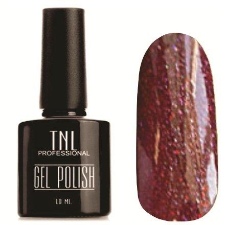 TNL, Гель-лак №369TNL Professional <br>Гель-лак, бордовый с блестками, плотный,10 мл.<br>