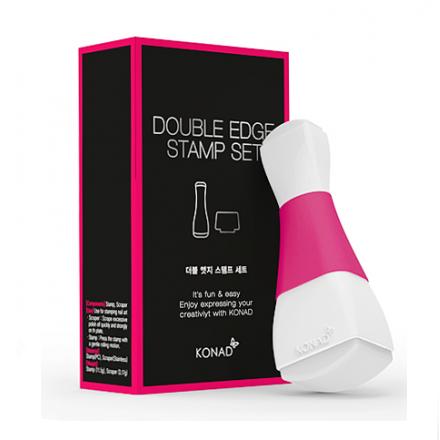 Konad, Штамп + Скрапер (прямоугольный) Double EdgeИнструменты и Аксессуары Konad<br>Силиконовый штамп и скрапер с двумя печатающими подушечками, предназначен для перенесения стемпинг рисунка.<br>