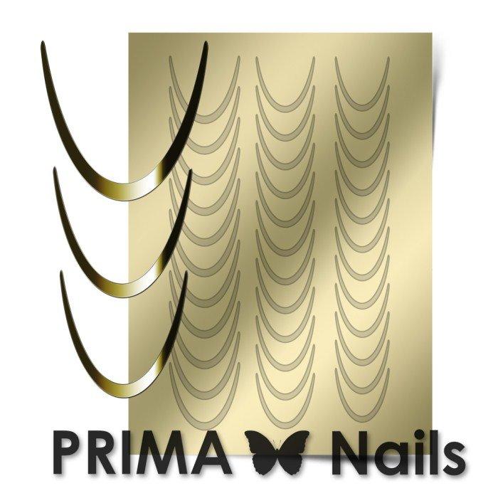 PrimaNails, Металлизированные наклейки для дизайна CL-001, ЗолотоМеталлизированные наклейки<br>Металлизированные наклейки PRIMA NAILS - модный тренд в дизайне ногтей, который актуален для любого сезона!<br>
