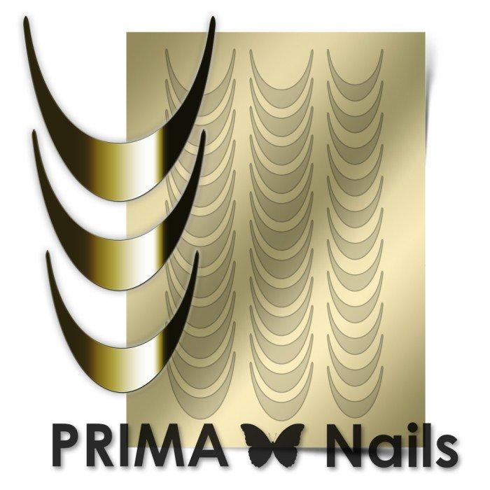 PrimaNails, Металлизированные наклейки для дизайна CL-002, ЗолотоМеталлизированные наклейки<br>Металлизированные наклейки PRIMA NAILS - модный тренд в дизайне ногтей, который актуален для любого сезона!<br>