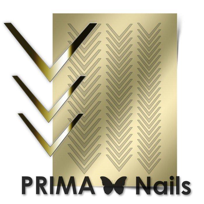 PrimaNails, Металлизированные наклейки для дизайна CL-003, ЗолотоМеталлизированные наклейки<br>Металлизированные наклейки PRIMA NAILS - модный тренд в дизайне ногтей, который актуален для любого сезона!<br>