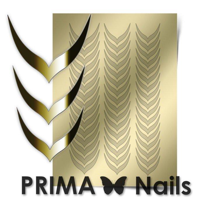 PrimaNails, Металлизированные наклейки для дизайна CL-004, ЗолотоМеталлизированные наклейки<br>Металлизированные наклейки PRIMA NAILS - модный тренд в дизайне ногтей, который актуален для любого сезона!<br>