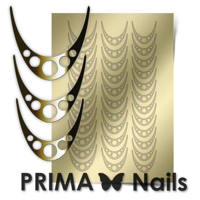 PrimaNails, Металлизированные наклейки для дизайна CL-005, ЗолотоМеталлизированные наклейки<br>Металлизированные наклейки PRIMA NAILS - модный тренд в дизайне ногтей, который актуален для любого сезона!<br>