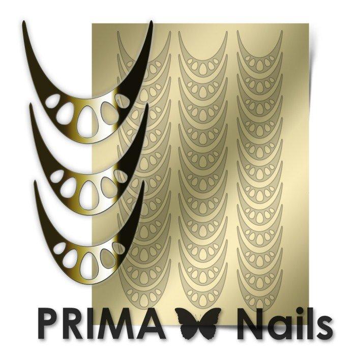 PrimaNails, Металлизированные наклейки для дизайна CL-006, ЗолотоМеталлизированные наклейки<br>Металлизированные наклейки PRIMA NAILS - модный тренд в дизайне ногтей, который актуален для любого сезона!<br>