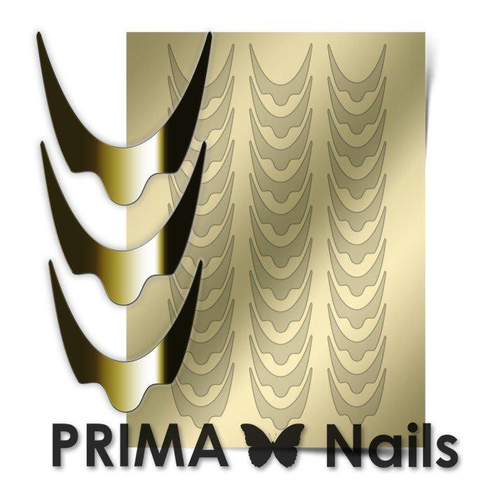 PrimaNails, Металлизированные наклейки для дизайна CL-008, ЗолотоМеталлизированные наклейки<br>Металлизированные наклейки PRIMA NAILS - модный тренд в дизайне ногтей, который актуален для любого сезона!<br>