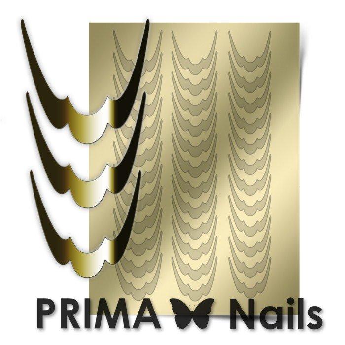 PrimaNails, Металлизированные наклейки для дизайна CL-009, ЗолотоМеталлизированные наклейки<br>Металлизированные наклейки PRIMA NAILS - модный тренд в дизайне ногтей, который актуален для любого сезона!<br>