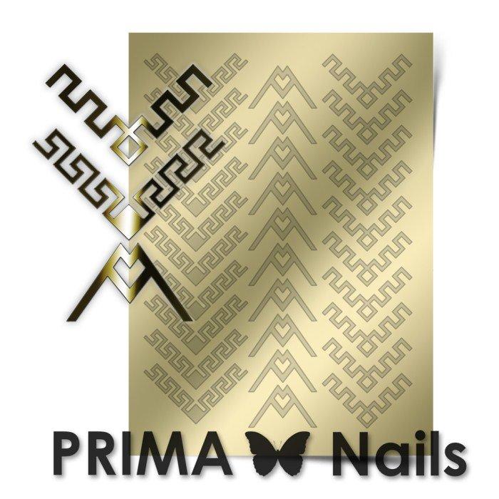 PrimaNails, Металлизированные наклейки для дизайна CL-012, ЗолотоМеталлизированные наклейки<br>Металлизированные наклейки PRIMA NAILS - модный тренд в дизайне ногтей, который актуален для любого сезона!<br>