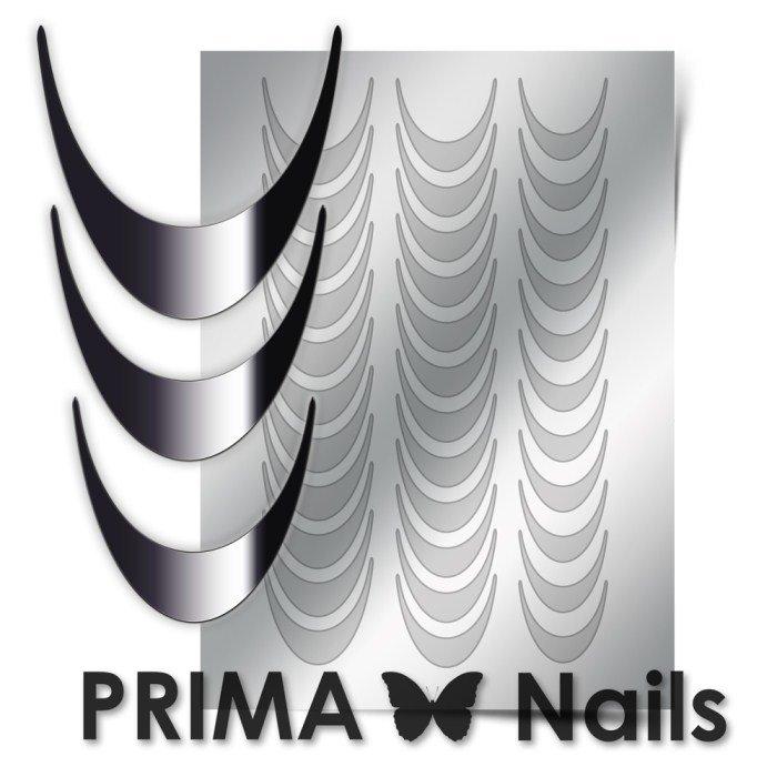 PrimaNails, Металлизированные наклейки для дизайна CL-002, СереброМеталлизированные наклейки<br>Металлизированные наклейки PRIMA NAILS - модный тренд в дизайне ногтей, который актуален для любого сезона!<br>