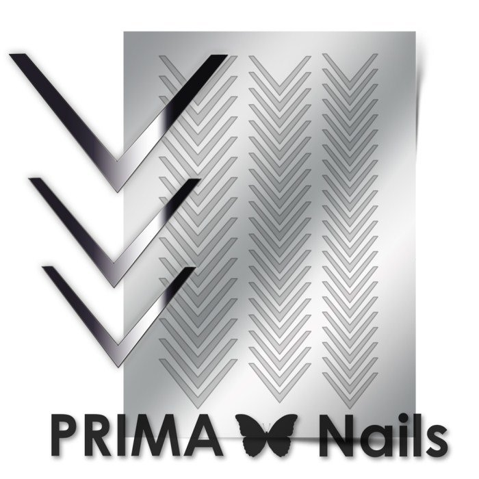 PrimaNails, Металлизированные наклейки для дизайна CL-003, СереброМеталлизированные наклейки<br>Металлизированные наклейки PRIMA NAILS - модный тренд в дизайне ногтей, который актуален для любого сезона!<br>