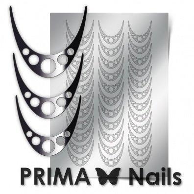 PrimaNails, Металлизированные наклейки для дизайна CL-005, СереброМеталлизированные наклейки<br>Металлизированные наклейки PRIMA NAILS - модный тренд в дизайне ногтей, который актуален для любого сезона!<br>