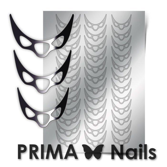 PrimaNails, Металлизированные наклейки для дизайна CL-007, СереброМеталлизированные наклейки<br>Металлизированные наклейки PRIMA NAILS - модный тренд в дизайне ногтей, который актуален для любого сезона!<br>