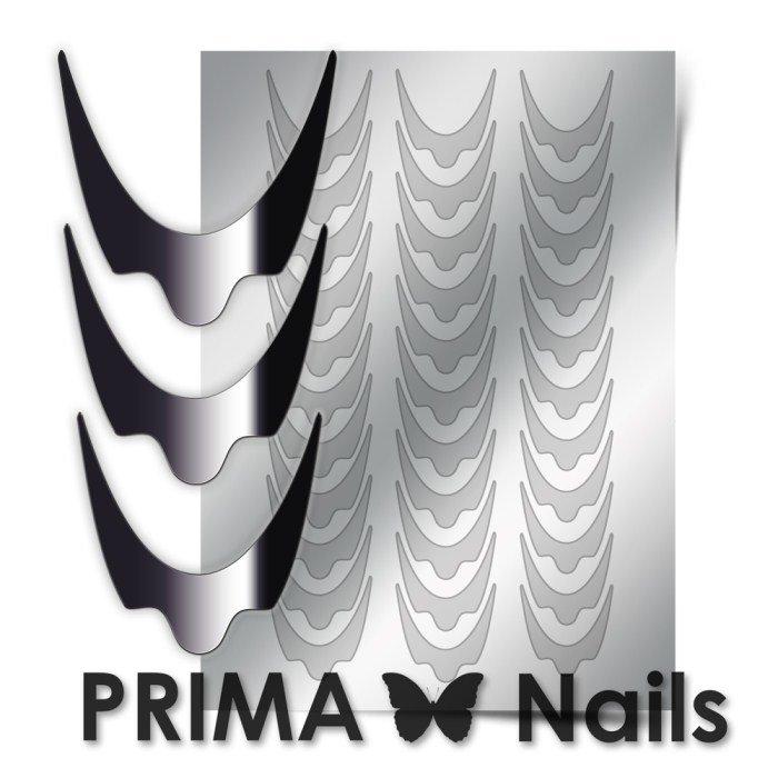 PrimaNails, Металлизированные наклейки для дизайна CL-008, СереброМеталлизированные наклейки<br>Металлизированные наклейки PRIMA NAILS - модный тренд в дизайне ногтей, который актуален для любого сезона!<br>