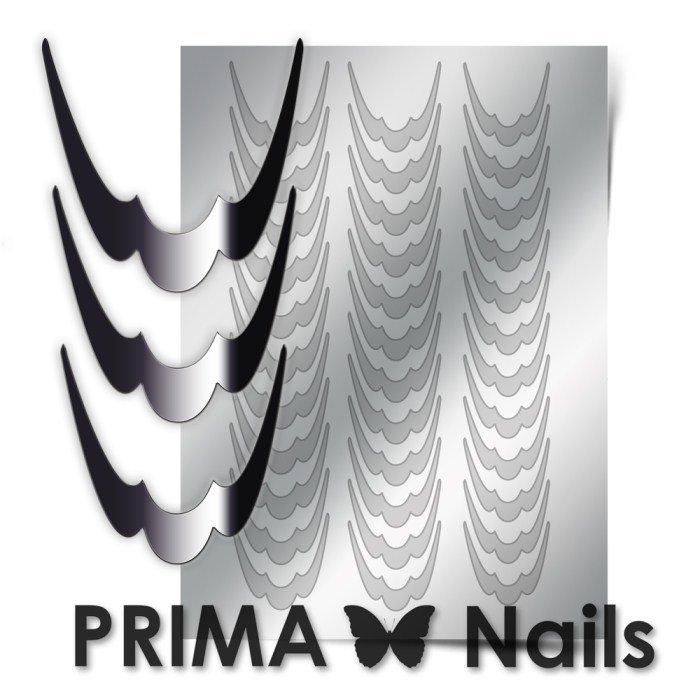 PrimaNails, Металлизированные наклейки для дизайна CL-009, СереброМеталлизированные наклейки<br>Металлизированные наклейки PRIMA NAILS - модный тренд в дизайне ногтей, который актуален для любого сезона!<br>