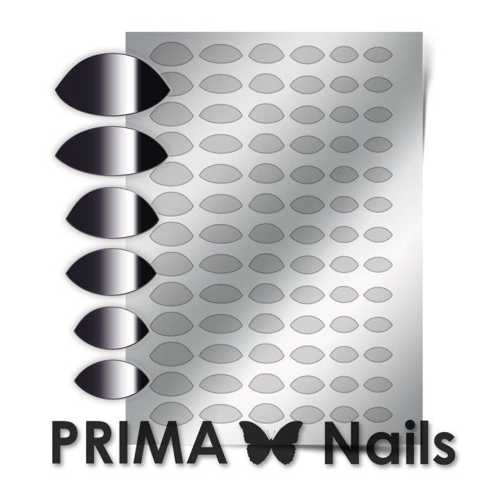 PrimaNails, Металлизированные наклейки для дизайна CL-010, СереброМеталлизированные наклейки<br>Металлизированные наклейки PRIMA NAILS - модный тренд в дизайне ногтей, который актуален для любого сезона!<br>
