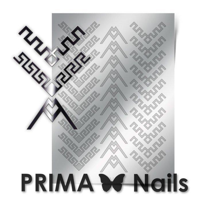 PrimaNails, Металлизированные наклейки для дизайна CL-012, СереброМеталлизированные наклейки<br>Металлизированные наклейки PRIMA NAILS - модный тренд в дизайне ногтей, который актуален для любого сезона!<br>