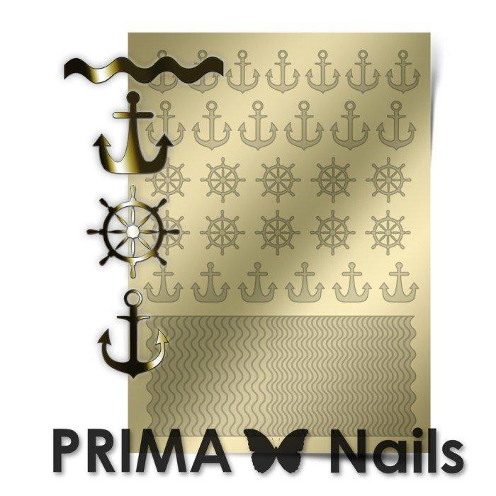 PrimaNails, Металлизированные наклейки для дизайна SEA-001, ЗолотоМеталлизированные наклейки<br>Металлизированные наклейки PRIMA NAILS - модный тренд в дизайне ногтей, который актуален для любого сезона!<br>
