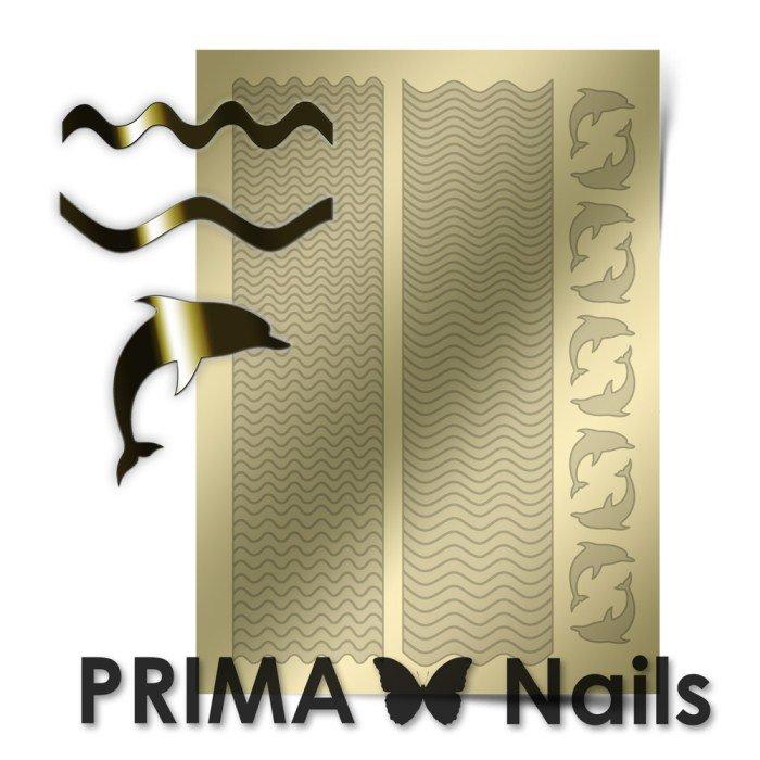 PrimaNails, Металлизированные наклейки для дизайна SEA-002, ЗолотоМеталлизированные наклейки<br>Металлизированные наклейки PRIMA NAILS - модный тренд в дизайне ногтей, который актуален для любого сезона!<br>